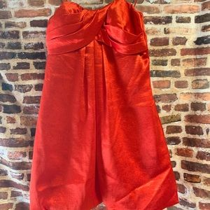 Cache red strapless dress